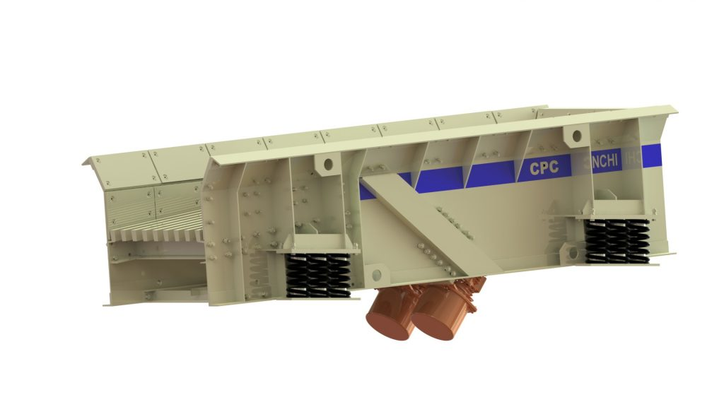 CPC Make Linear Motion Vibrating Grizzly Feeder with Twin Vibro Motor