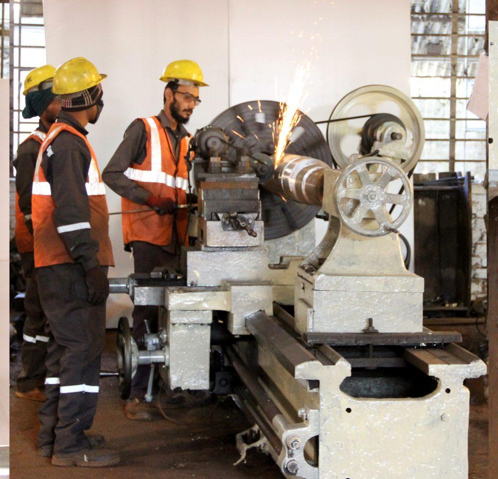 Machining of crusher shaft