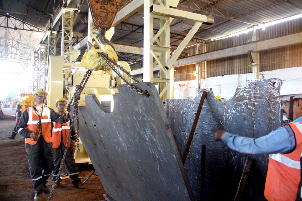 Jaw Crusher fabrication under process